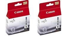 2 X Genuine Canon PGi-9PBK Photo Black Ink PIXMA Pro9500 Pro 9500 Mk II iX7000