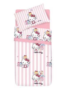 Piumone Hello Kitty 1 Piazza E Mezza.Set Copripiumino Lenzuola Hello Kitty Little Friends Rosa 1 Piazza