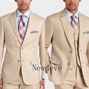 Image Is Loading Beige Cream Men Fashion Wedding Suits Best Man