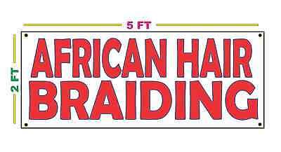 HAIR BRAIDING Banner Sign NEW 2x5 micro twist salon corn row french fish tail