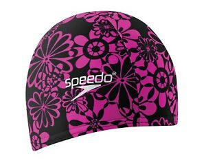 Speedo-LYCRA-Swimming-Cap-Black-and-Hot-Pink-One-Size