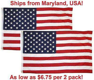 3x5 American Flag with Grommets USA United States of America US Flags