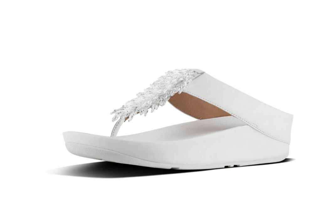 FitFlop donna infradito Rumba Urban bianca Sandaloi infradito FitFlop donna FitFlop ed92ad