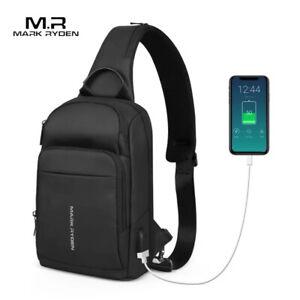 Mark Ryden New Anti-thief Sling Bag Waterproof Men Crossbody Bag Fit 9.7 inch