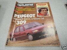 L AUTO JOURNAL 1985 N° 18 Prost/ La 309 GR et GT/ Rover 213/ Pilote R700 *