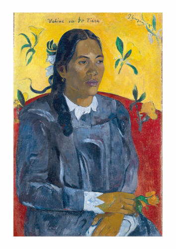 Tahitian Woman With A Flower Wall Art Poster Print Paul Gauguin