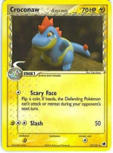 - 27//101 Delta Species Croconaw Uncommon PL Dragon Frontiers Pokemon 2B3