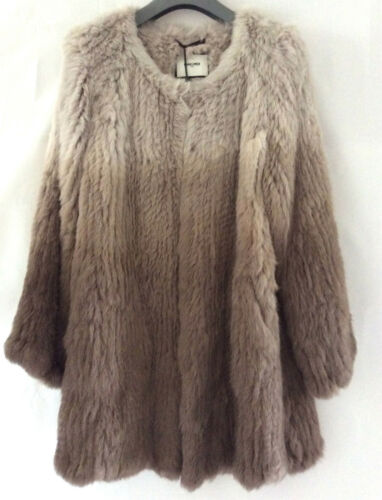 Coat Fur Size amp;moi Two Tone Rabbit Max Medium wFna8XqFx