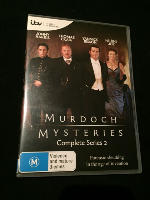 MURDOCH MYSTERIES - Series 2 (4 Disc Set) Complete Second Season Two Like New