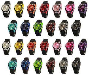 sv24-watch-Silikon-Uhr-Schwarz-Armbanduhr-Damen-Herren-Kinder-Sport-Trend-Uhren