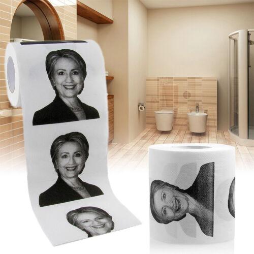 Gag Prank Joke Gift Hot RA23 Novelty Hillary Clinton Smile Toilet Paper Roll