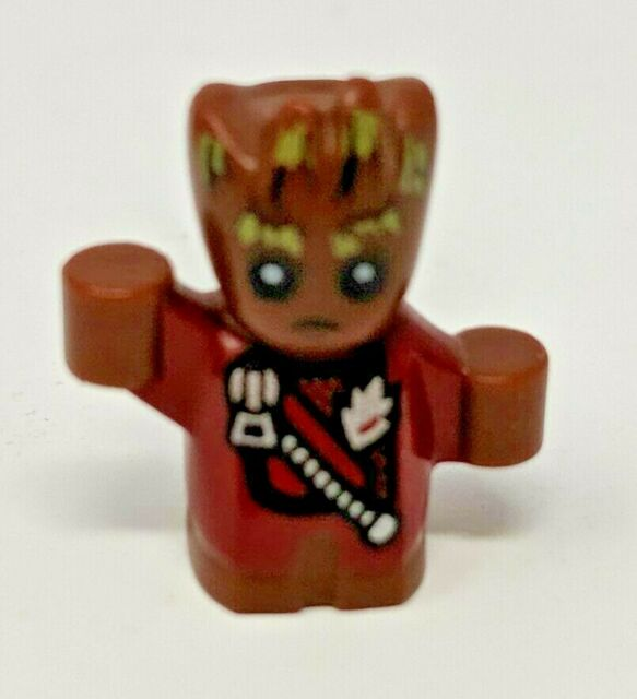 LEGO Guardians of the Galaxy Vol 2 Baby Groot Minifigure 76080 Jacket Mini Fig