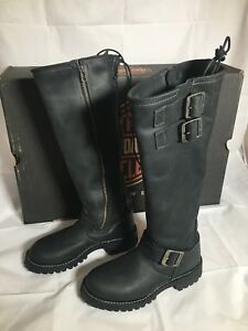 """Milwaukee Leather Men/'s 11/"""" Classic Engineer Motorcycle Boot w// 2 Side Buckles"""