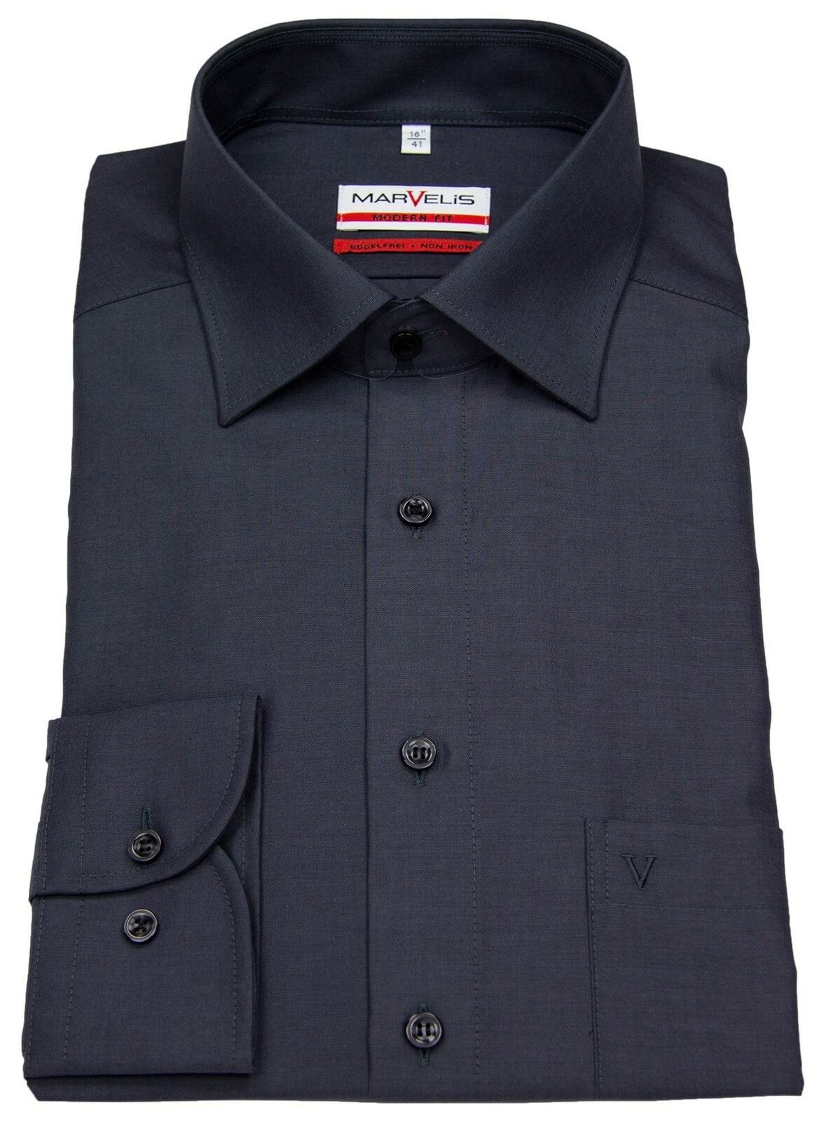 Anthracite Chambray Spread Collar