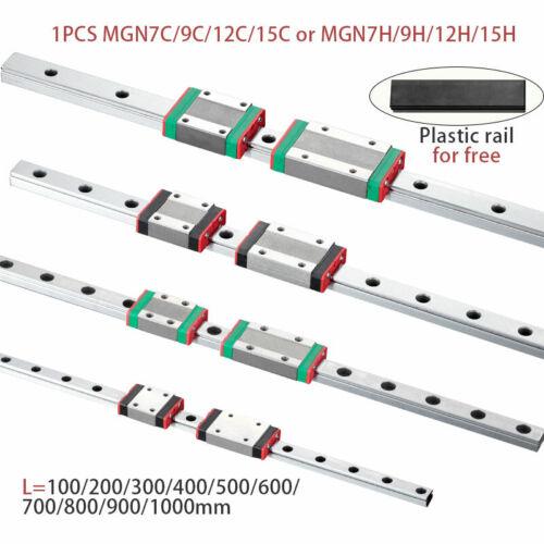 MGN7 MGN12 MGN15 MGN9 L 100 200 350 500 600 800mm miniature linear rail slide