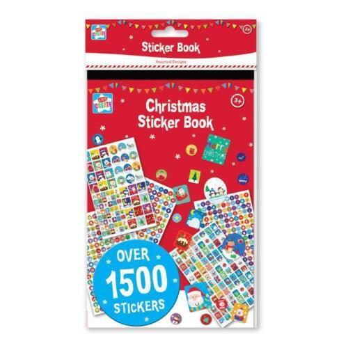 1500 Christmas Stickers Stocking Filler Children Kids Art Crafts Adhesive Label
