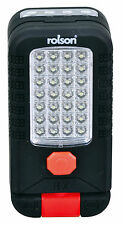Rolson Swivel Head 28 + 4 LED Work Light with Hook and Magnet Batteries Included