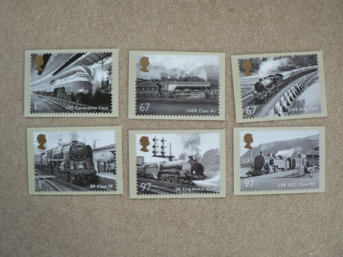 Great British Railways 2010, 6 x PHQ Stamp Cards, FDI Special HS Back
