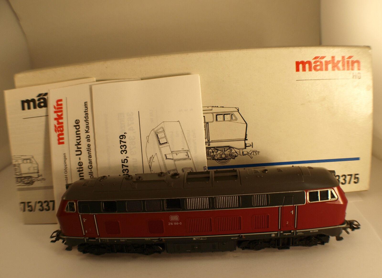 Märklin 3375 diesel engine 216 199-0 db new in box nmib