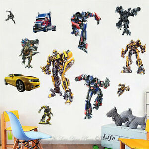 Transformer-Kids-Removable-Wall-Sticker-Boys-Nursery-Vinyl-Decal-Art-Mural-Decor