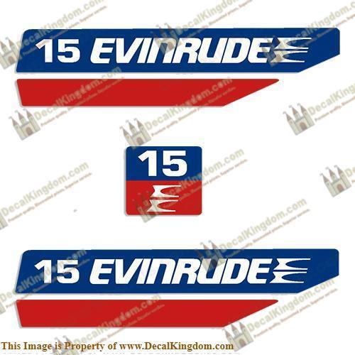 Evinrude 1970's 15hp Outtavola Decal Kit 3M Marine Grade