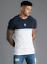 Gym-King-Mens-Short-Sleeve-Crew-Neck-Block-Panel-Taped-New-Slim-Fit-T-shirt-Tee thumbnail 2