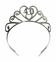 Glittered 40 Tiara Party Accessory (1 Count) (1/pkg) Free Shipping