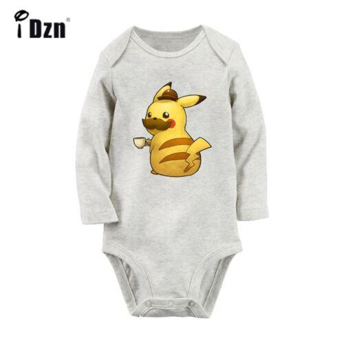 Cute Pokemon go Pikachu Newborn Jumpsuit Baby Bodysuit Long Sleeve Romper Outfit
