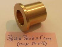 Bronze Flange Bushing Bearing 5/8 Id X 7/8 Od X 1 Brass Engine Motor F40