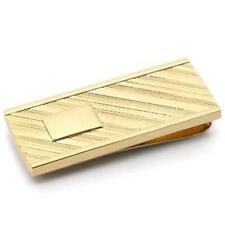 """H12 Men's Gold Colored MONEY CLIP Wallet 2"""" x 0.75"""" NEW"""