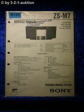Sony Service Manual ZS M7 Mini Disc System (#6155)