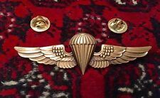 Navy Marine Corps Paratrooper Jump Wings Pin Badge Gold Recon Airborne