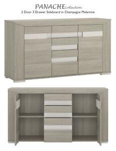 Panache-2-Door-3-Drawer-Sideboard-in-Champagne-Melamine-Luxury-Elegant-Modern