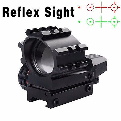 Tactical 1X33 Holographic Red Green 4 Reticles Reflex Dot Sight 20mm Rail Mount