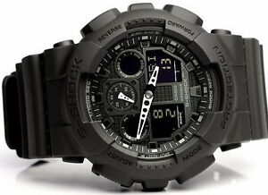 new casio gshock black ops analog xlarge black ga100 1a1 watch nwt image is loading new casio gshock black ops analog xlarge black