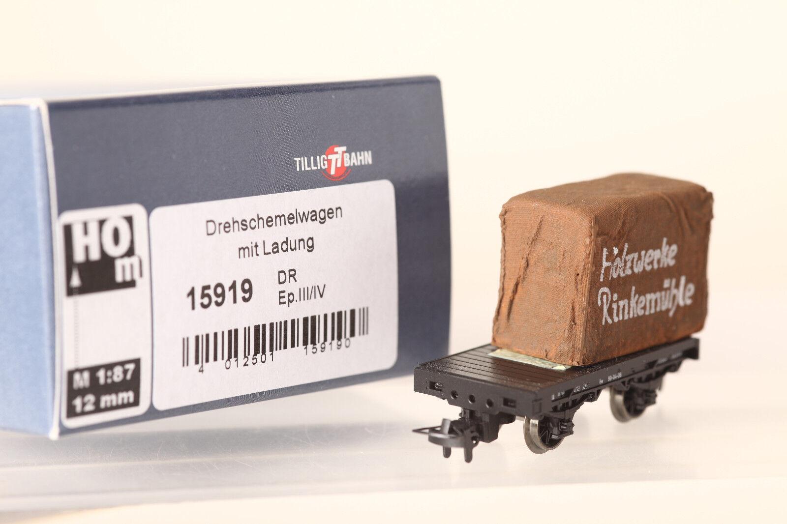 Tillig Spur H0m H0m H0m  15919 Drehschemelwagen mit Holzkiste Plane DR in OVP (59137)  | Up-to-date-styling  ee8d03