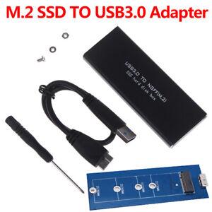 USB-C-M-2-NGFF-Hard-Drive-Enclosure-B-Key-SATA-SSD-Reader-to-USB-3-0-Adap-u