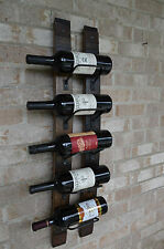 Whiskey Barrel Stave wine rack-with rusted banding