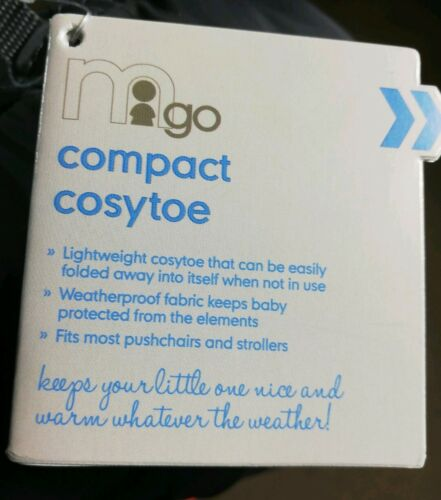 NEW MOTHERCARE COMPACT COSYTOES//FOOTMUFF PRAM//PUSHCHAIR UNIVERSAL FIT CHARCOAL