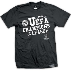 FC Bayern München T-Shirt UEFA Champions League, Herren, schwarz
