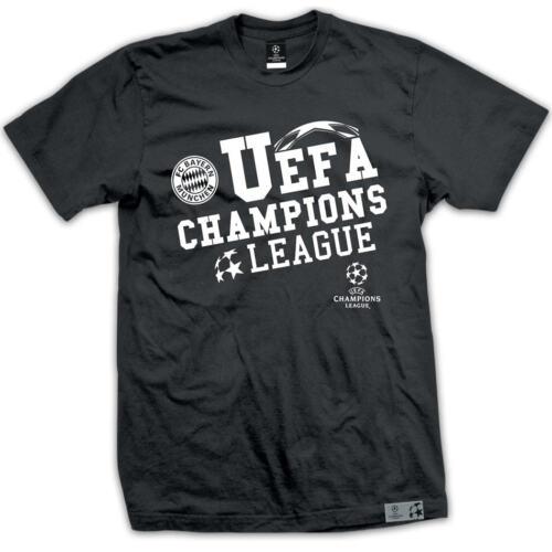 FC Bayern München T-Shirt UEFA Champions League Herren schwarz