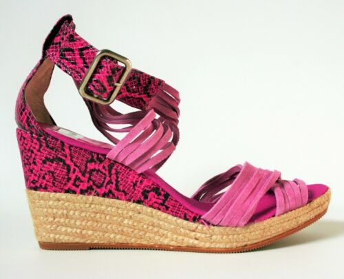 donna alto Tacco Kanna Sandali Uk da Scarpe con zeppa espadrillas 7 con taglia rosa zeppa vp8SBqpn