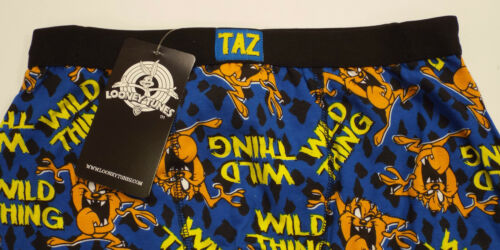SMALL up to XL BRAND NEW MEN/'S TAZ /'WILD THING/'  NOVELTY BOXER SHORTS SIZES