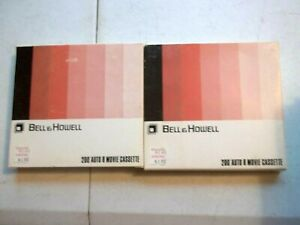 2 Bell & Howell 200' Auto 8 Movie Cassettes Regular 8mm New/Old Stock