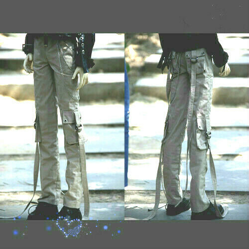 1//4 1//3 Uncle ID BJD Pants Outfit Clothes Cargo Pants Trousers Pocket/&Chain Deco