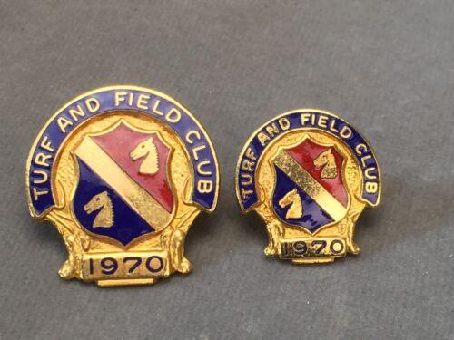 "Belmont Turf /& Field Club Pinbacks 1961-1988 and NYRA Undated 1/"" /& 3//4/"""