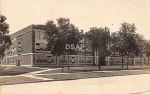 C91-Pipestone-Minnesota-Mn-Real-Photo-RPPC-Postcard-c30s-High-School-Building
