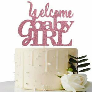 Pink Welcome Baby Girl Cake Topper Baby Shower Party Decorations 721248379191 Ebay