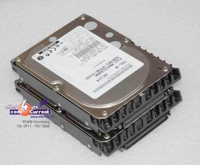 18gb SCSI Hard Drive Fujitsu Man3184mc Ca06227-b13400fs S26361-h647-v100 ##K1804