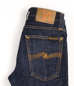 Nudie Jeans Femmes Serré Long John Slim Jeans Extensible Taille W24 L32 AVZ1614